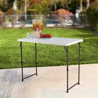 #1 Best Seller! $28.93 Lifetime 4 Foot Adjustable 4428 Height Folding Utility Table