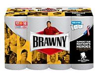 $40.95 4 Pack of Brawny® Big Roll 2-Ply Paper Towels, White, 102 Sheets Per Roll, 12 Rolls Per Pack