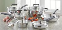 Hamilton Beach Steelosophy 10-Piece Stainless Steel Cookware Set
