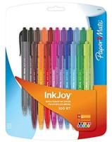 $3 PaperMate, InkJoy 100RT, Retractable Ballpoint Pens, Medium Point, Assorted Ink Colors, 20/Pack