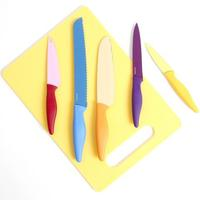 Gibson Colorsplash Primary Basics 6-Piece Nonstick Stainless Steel Cutlery Set
