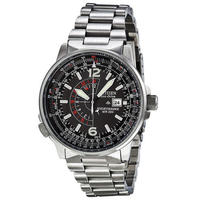 $187.38 Citizen Men's Eco-Drive Nighthawk Stainless Steel Watch (BJ7000-52E)