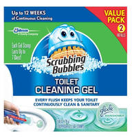 $5.23 Scrubbing Bubbles Toilet Gel Rain Shower, 1 Dispenser and 12 Gel Stamps