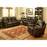 Abbyson Living Berkshire 3-Piece Leather Reclining Furniture Set