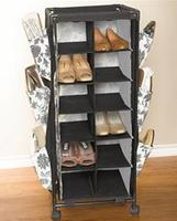BrylaneHome Rolling Cart with Shelves