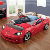 Step2 Corvette Toddler to Twin Bed with Lights - Red