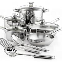 $28.99 Tools of the Trade Stainless Steel 12 Piece Cookware Set