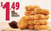 $1.49 10 Pc Chicken Nuggets @ Burger King