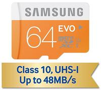 $19.57 Samsung EVO 64GB MicroSDXC Flash Card w/ Adapter
