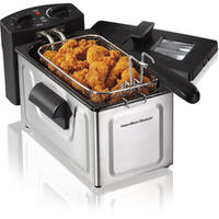 $25 Hamilton Beach 2-Liter Deep Fryer, Stainless Steel