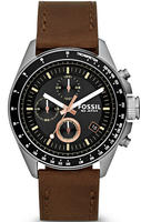 Fossil Men's Decker Chronograph Leather Watch CH2885