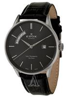 Edox Men's Les Vauberts Day Date Automatic Watch 83010-3N-NIN