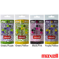8-Pack Of Maxell Wild Things Stereo Earbuds With Inline Microphone & Remote