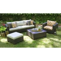 $1989.99 Biscayne 5-Piece Wicker Sectional Seating Patio Furniture Set