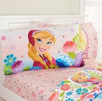 Disney's Frozen Floral Breeze Twin Size Sheet Set, Pink