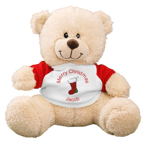 "$15 Personalize 11"" Christmas Stocking Teddy Bear @ 800Bear, a Dealmoon Exclusive"