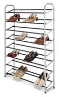 Lowest Price! $26.99 Whitmor 6705-3945 Silver Epoxy Metal Shoe Tower, 40-Pair