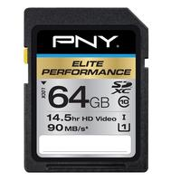 $24.99 PNY 64GB Elite Performance UHS-1 Class 10 Secure Digital Extended Capacity Card P-SDX64U1H-GE