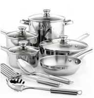 $29 Tools of the Trade Stainless Steel 12 Piece Cookware Set
