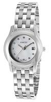 Gucci Women's 5505 Diamond Stainless Steel Watch YA055504
