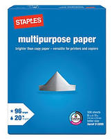 "$0.01 After Rebate Staples 8.5"" x 11"" Multipurpose Paper, ream."