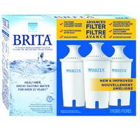 #1 Best seller! Brita 3 Count Water Filter Pitcher Advanced Replacement Filters