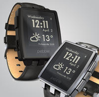 Pebble - Steel Smart Watch for Select iOS and Android Devices