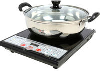 Tayama Digital Black Induction Cooktop 1500 Watts SM-16A3 With Cooking Pot