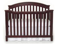 $129.99 Summer Infant Freemont Easy Reach 4 in 1 Convertible Crib-Black Cherry