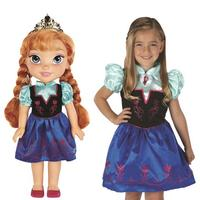 $20.99 Disney® Frozen Anna Doll and Toddler Dress Combo