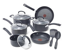 $79.99 T-fal E918SC Ultimate Hard Anodized Nonstick Expert Interior Thermo-Spot Heat Indicator Cookware Set