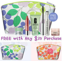 Free 5-Piece Kit of Bestsellers+Cosmetics Bag  with any $35 purchase @ Clinique