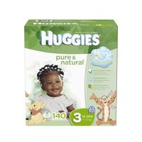 $30.67 Huggies Pure and Natural Diapers, Size 3, 140 Count