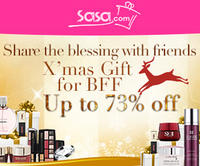 Up to 73% Off X' mas Gift for BFF @ Sasa.com