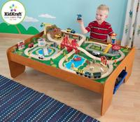 $107.97 KidKraft Ride Around Town 100-Piece Train Table and Set