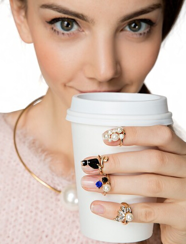 $14 Bling Ring Knuckle Ring Set