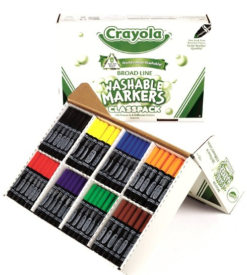 $40.33 Lowest Price! Crayola 200ct Washable Marker Classpack