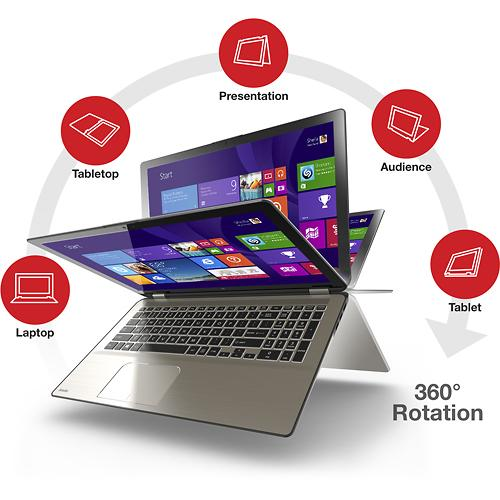"""$799.99 Toshiba 2-in-1 15.6"""" Touch-Screen Laptop - i7/12GB RAM/256GB Solid State Drive ( P55W-B5318)"""
