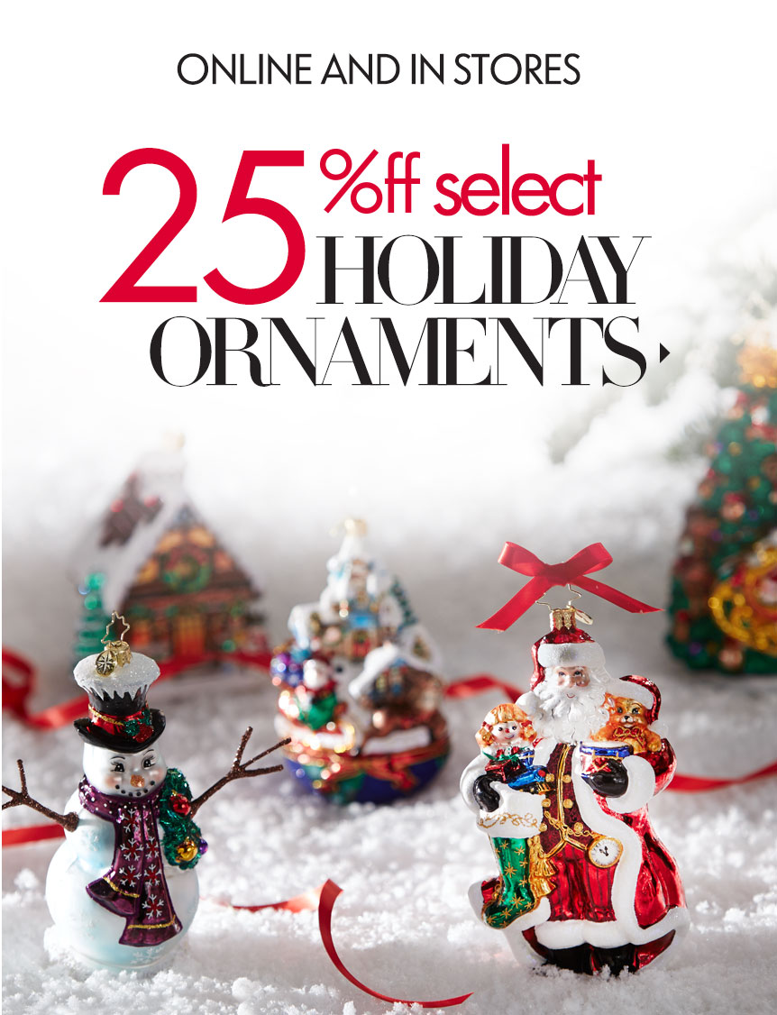 25% Off  Holiday Glories Tree Ornaments Sale @ Neiman Marcus