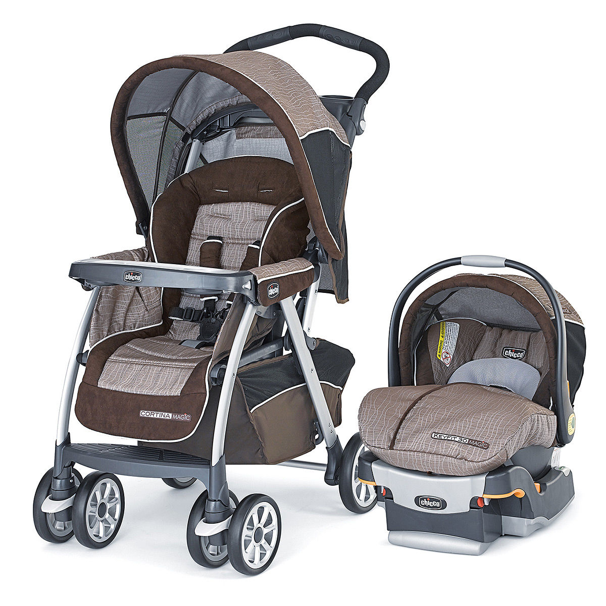 $199.99 Chicco Cortina Stroller and Keyfit 30 Infant Car Seat & Base - Rattania