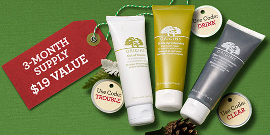 Free Top-selling Facial Masks with $30 Purchase @ Origins