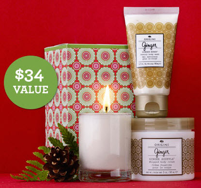 Free 3-piece Ginger Set with Any $65 Purchase @ Origins