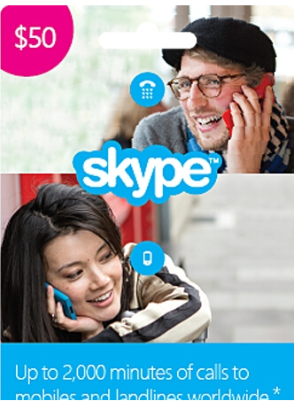 $32 Skype $50 Prepaid Credit (Digital Delivery)