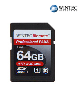 $18.5 64GB Wintec Professional Plus Class 10 SDXC Memory Card