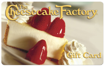 1 Free cheesecake slice with every $25 giftcard order @ Cheesecake Factory