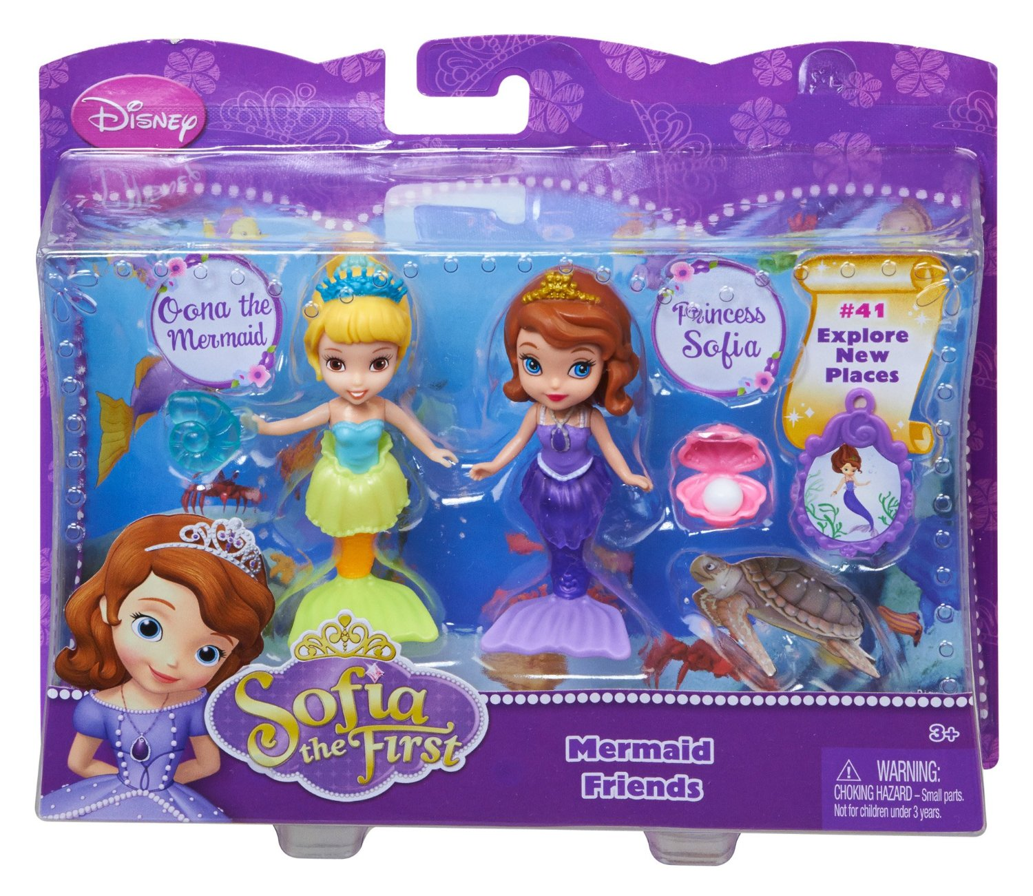 """$5.38 Disney Sofia The First 3"""" Sofia and Oona The Mermaid Doll (2-Pack)"""