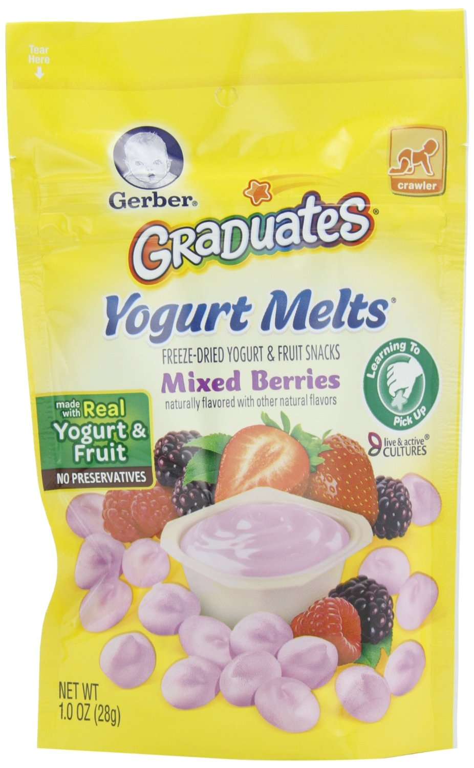 $10.5 Gerber Graduates Yogurt Melts, Mixed Berry, 1 Ounce (Pack of 7)