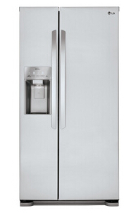 LG 22.1 Cu. Ft. Side-by-Side Refrigerator - Stainless Steel
