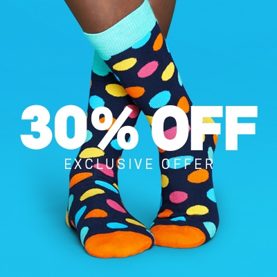 30% OffEnd of Year Sale @ Happy Socks
