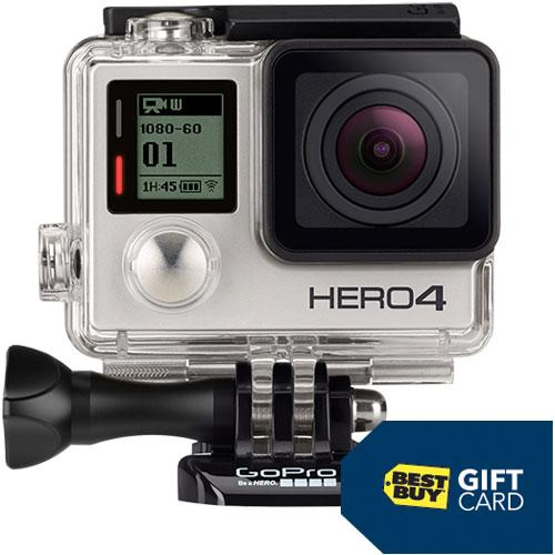 $399.99 GoPro HERO4 Silver Action Camera & Free $50 Best Buy Gift Card